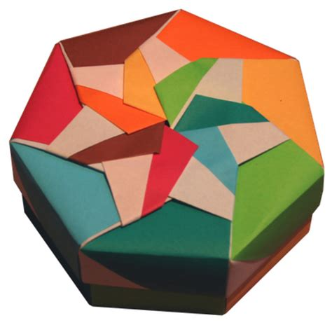 Origami Octagon Box - lets make origami heptagon box by tomoko fuse
