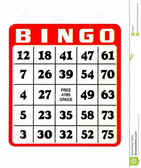Gamis Karet Bola2 bingo karte lizenzfreies stockbild bild 203906