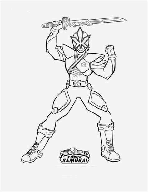 printable coloring pages power rangers samurai print images cool power rangers samurai coloring pages