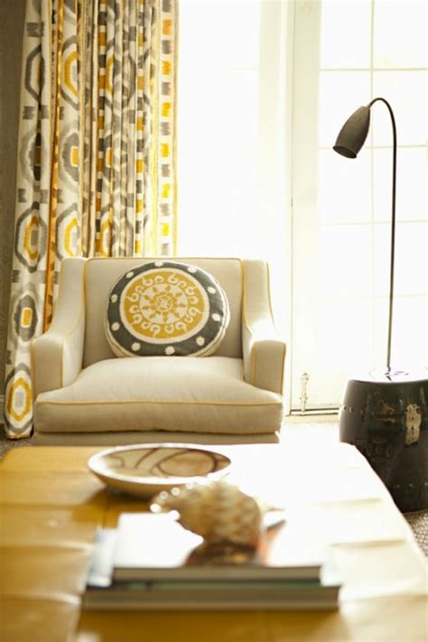 Yellow Valances For Living Room Yellow And Gray Drapes Design Ideas