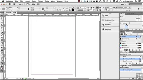 Creating Ebooks Tutorial Setting Up An Indesign Template Youtube Indesign Box Template