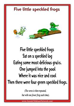 themes of indian english poems nursery rhymes five little speckled frogs children s