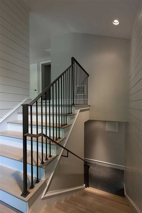 shiplap on stairs interior design ideas home bunch interior design ideas