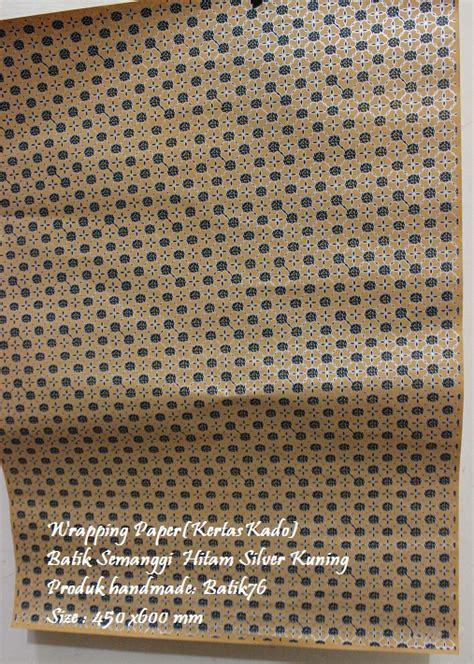 Bungkus Kertas Kado Tambahan wrapping paper pembungkus kado motif batik semanggi silver