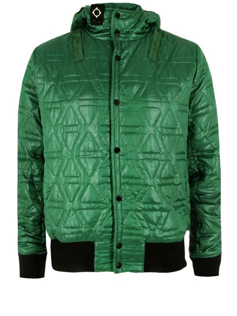 Quilted Jacket Liner by Ma Strum Quilted Hooded Liner Green Jacket In Green For