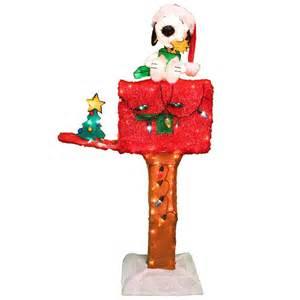 Snoopy Christmas Decorations For Outdoors Shop Peanuts 4 Ft Outdoor Christmas Decoration At Lowes Com
