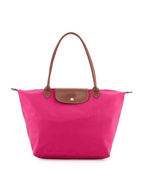 longch le pliage large shoulder tote bag in pink lyst