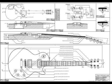 printable version p87 blueprints blueprints image gibson les paul guitar