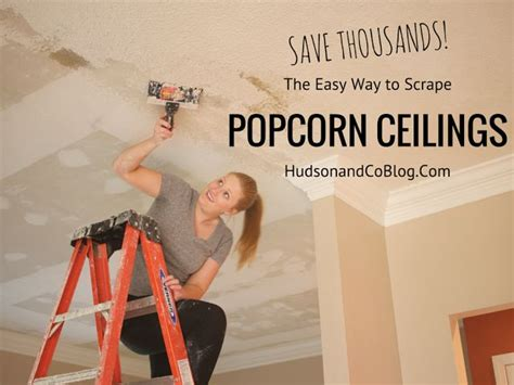 easiest way to scrape popcorn ceiling how to save thousands of dollars by scraping your own
