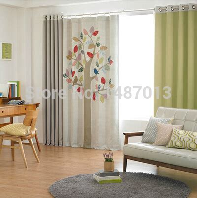 living room lovely window curtains styles for living colorful tree print korea window curtain for living room