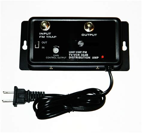 cable tv antenna signal amplifier booster db hdtv uhf