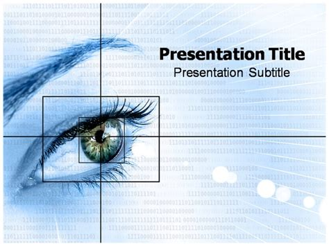 ophthalmology template eye of human powerpoint templates and backgrounds