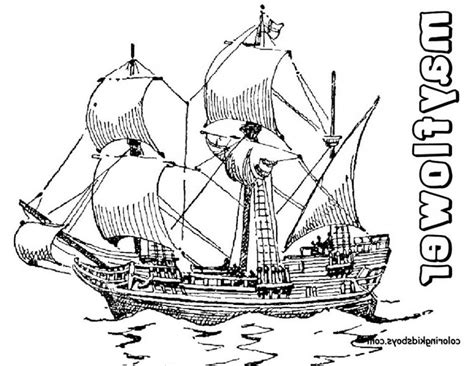 mayflower coloring page mayflower coloring page coloring home