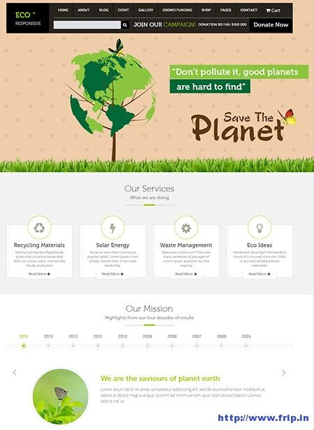 wordpress themes eco free 14 best environmental eco nature wordpress themes frip in