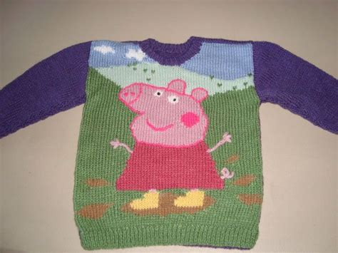 Pattern For Peppa Pig Jumper | 17 best images about peppa pig knit charts on pinterest
