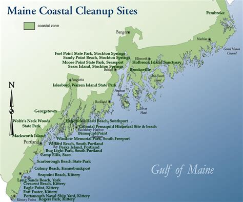 map of maine coast maine coastal program coastweek cleanup map maine dept of marine resources