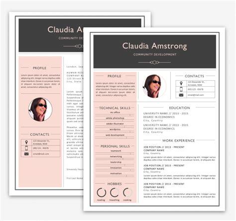 Pink Grey Resume Pack Print Resumes Luvly Pink Resume Template