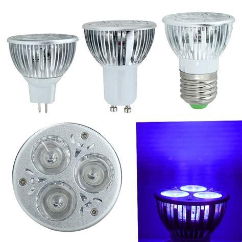3w 3x1w E27 Gu10 Mr16 Uv Ultraviolet Purple Light Led Bulb Uv Light Led Bulb