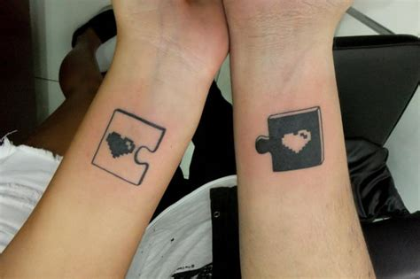 couple puzzle piece tattoo 40 cool puzzle design ideas hative