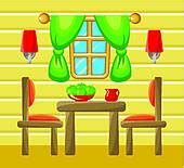 Clipart Dining Room by Dining Room Clipart Vector Graphics 571 Dining Room Eps