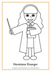 hermione granger colouring page 2