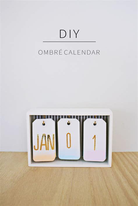 Inexpensive Desk Calendars Diy Fabriquez Un Calendrier Ombr 233 Pour Votre Bureau