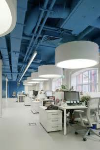 Blue Office blue ceilings painted ceilings office designs office ideas open office
