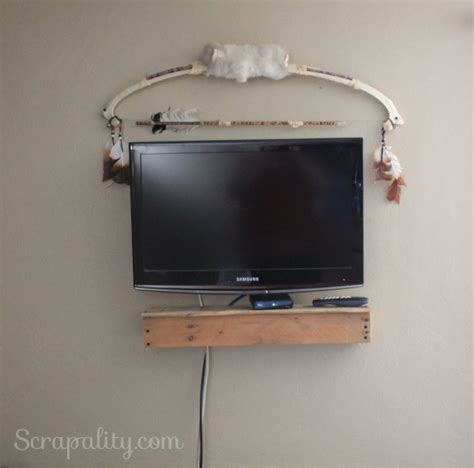 Floating Cable Box Shelf by Floating Pallet Tv Shelf