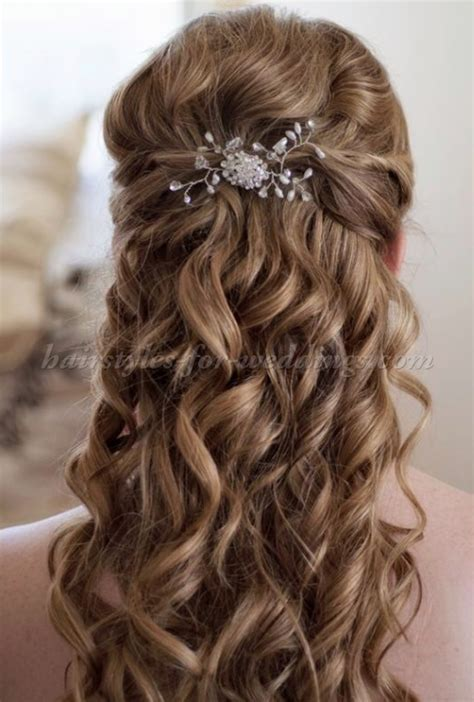 Half Up Wedding Hairstyles Back View by Curly Half Up Half Prom Hairstyles Back View