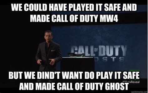 Call Of Duty Ghosts Meme - like a boss call of duty funny memeaddicts
