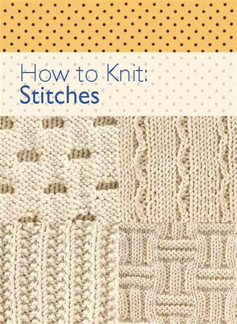 knitting how to knitting stitches ebook how to knit stitches free