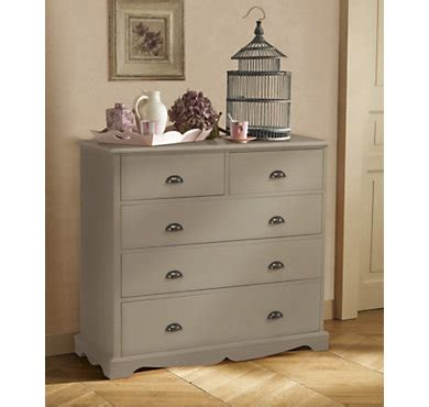 commode camif commode 5 tiroirs hastings taupe