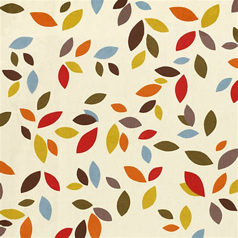 leaf pattern curtain fabric buy scattered leaves curtain multi john lewis