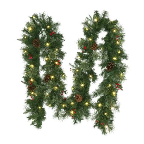 best xmas lighted garlands 100ft martha stewart living 9 ft winslow artificial garland with 100 clear lights gt90p4598c00 the