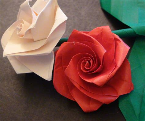 Rosa Origami - how to make a beautiful origami bouquet for