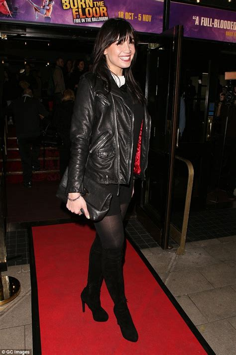 Vo A Blouse lowe cuts a stunning figure in sheer blouse and thigh high boots as she steps out with