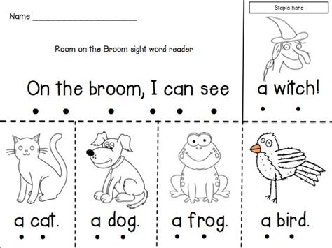 room on the broom activities room on the broom emergent reader activities the o jays and