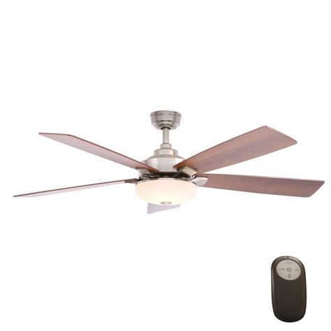 home decorators collection ceiling fan reviews home decorators collection cameron 54 in indoor brushed