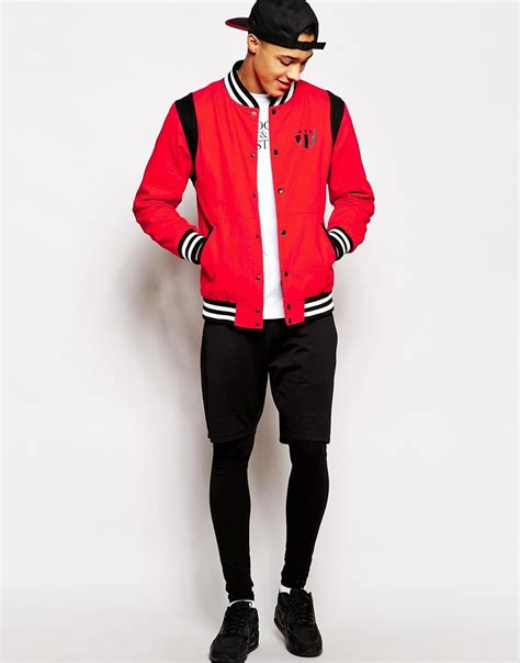 Jaket Sweater Bomber 2 crooks and castles elite bomber jacket in for lyst