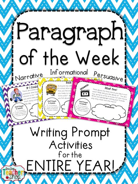 themes for english week paragraph of the week paragraph writing practice with