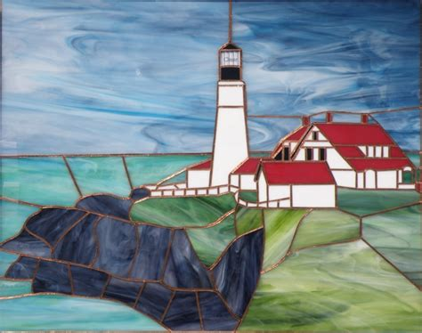 stained glass lighthouse l portland head lighthouse stained glass stained glass