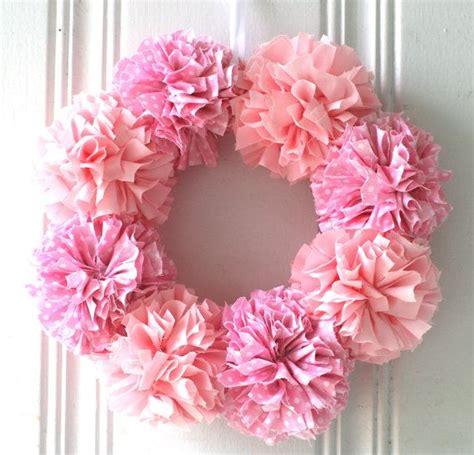 pom pom baby shower pom pom wreath baby shower decorations home decorations