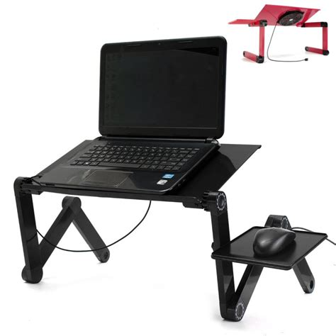 Portable Laptop Desk Stand Portable Adjustable Foldable Laptop Notebook Pc Desk Table Vented Stand Bed Tray Alex Nld