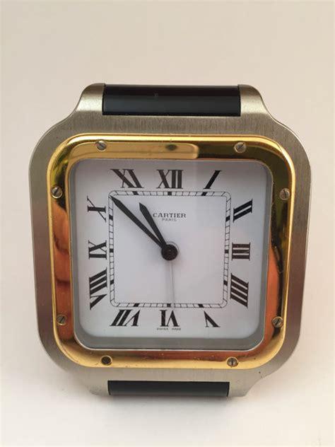 orologi da scrivania orologio da scrivania cartier santos con sveglia catawiki