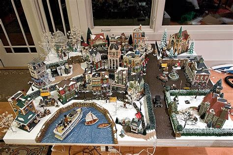 layout for christmas village christmas village water feature merry and bright