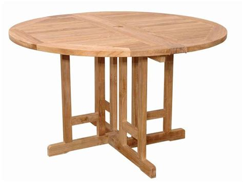 round table anderson anderson teak teak 47 inch butterfly round folding table