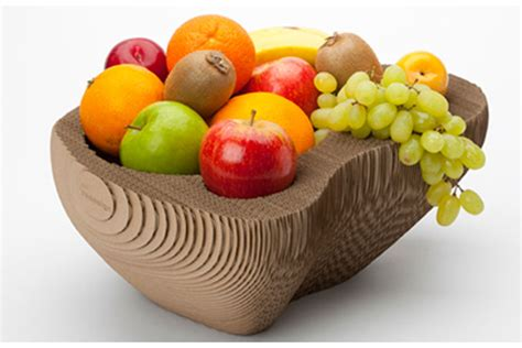 fruit bowl 128 cardboard a clever recycled cardboard fruit bowl by