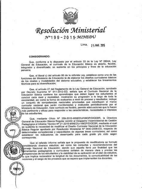 resolucion ministerial n199 2015 minedu resoluci 243 n ministerial n 176 199 2015 minedu
