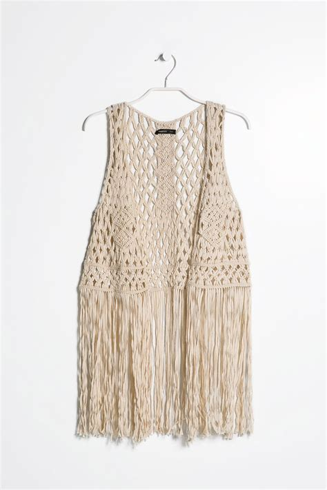 Macrame Vest Pattern - chaleco de flecos de mango dress for less