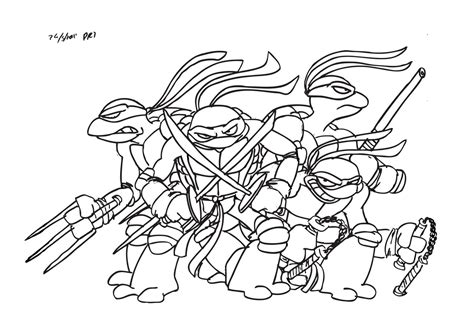 ninja turtles coloring pages easy amazing of simple teenage mutant ninja turtles coloring p